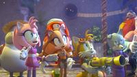 SB S1E38 Team Sonic watch fireworks