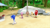 SB S1E19 Team Sonic volleyball court
