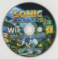 Sonic Colours Wii PAL disc