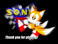 Sonic R - Tails (Ending Screen)