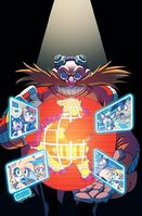 Sonic the Hedgehog 284 Variant cover (raw)