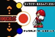 Sonic Advance 2 proto character select