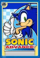 Sonic Advance Stampii trading card