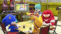 SB S1E25 Sonic Tails Knuckles Dave