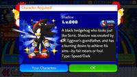Sonic Runners Shadow unlocked