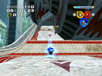 Sonic kiking
