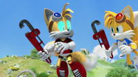 Cyborg Tails freed from mind control
