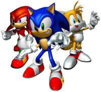 Sonic Heroes Artwork - Team Sonic