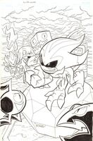 Sonic Universe -69 Cover - Archie Comics - Shadow and Knuckles - 2014