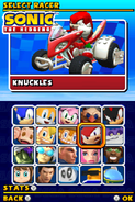 Sonic and Sega All Stars Racing DS character select 08