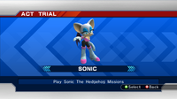 STH2006 Character Select Rouge