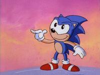 Sonic in Sonic Christmas Blast