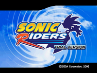 Sonic riders trial title screen