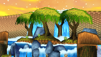 Sunset Forest Background 3
