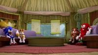 SB S1E50 Team Sonic Amy's house stormy