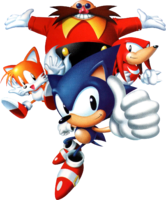Screen Saver Sonic, Tails, Knuckles and Eggman