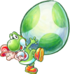 Yoshi and Baby Mario Artwork - Yoshi's New Island.png