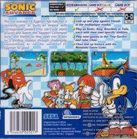 Sonic Advance box back UK