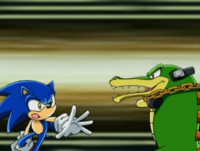 Vector fights sonic