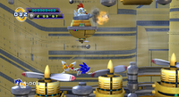 Sonic 4 Ep.II Sky Fortress Fans and Clucker