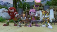 SB S1E20 Team Sonic battle stance