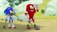 SB S1E13 Sonic Knuckles fore