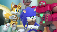 Tails Sonic and Mighton