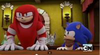 SB S1E17 Knuckles Sonic court