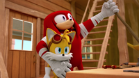 SB S1E45 Tails Knuckles inventor buddies