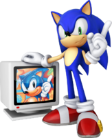 Sonic 20th 3D art US