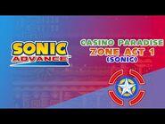 Casino Paradise Zone Act 1 (Sonic) - Sonic Advance