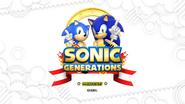 Sonic Generations title screen