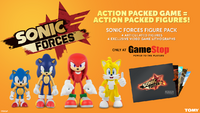 Tomy Sonic Forces figure pack advertisement