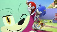 SB S1E39 Knuckles Sonic Tails peek