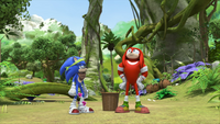 S1E44 Sonic Knuckles West Forest