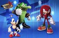 SFSB Classic Sonic Vector and Knuckles