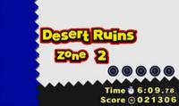 Desert Ruins A2 Title Card 3DS