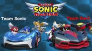 Team Sonic Racing Sonic vs Dark