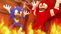 SB S1E43 Sonic Knuckles fire