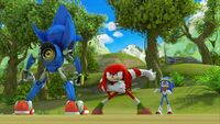 SB S1E44 Metal Sonic Knuckles Hipster Sonic