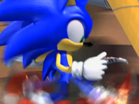 Sonic looking at a letter