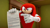 S1E32 Knuckles proposal