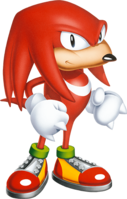 A picture of Knuckles from the Sonic website