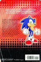 Sonic X Meteor Shower Messenger book back