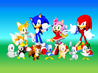Sonic tails amy knuckles and flickies animals by 9029561-d6prc0r.png