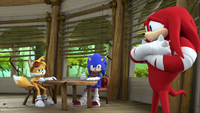 SB S1E39 Tails Sonic Knuckles brainstorm
