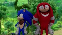 SB S1E25 Sonic Knuckles look