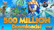 SonicDash500MillionDownloadsAlt2