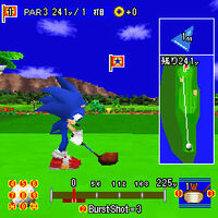 Sonic Golf DX - gameplay