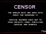 Sonic the Hedgehog 2 (прототип CENSOR'а)